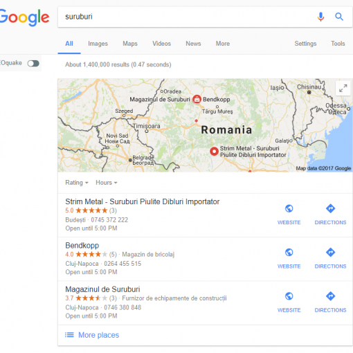 Suruburi cu Google My Business