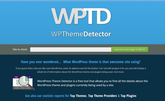 wpthemedetector.com front page