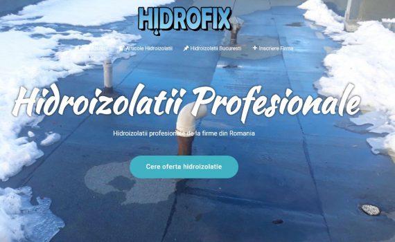 hidroizolatii profesionale Hidrofix.ro