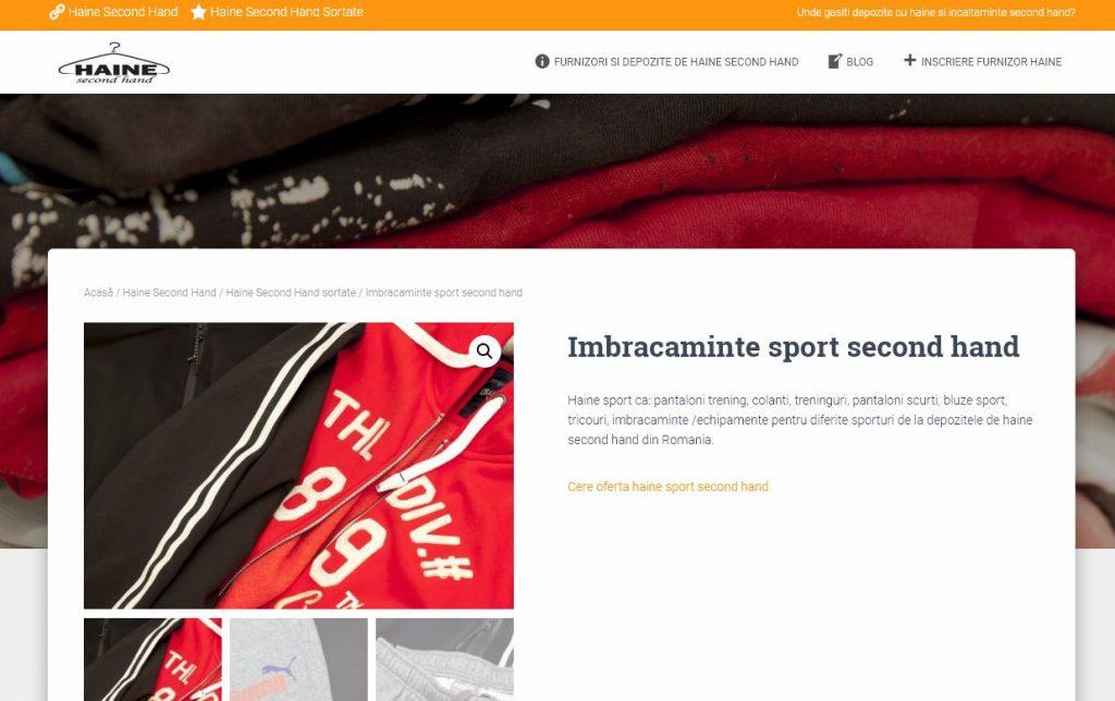 imbracaminte sport second hand