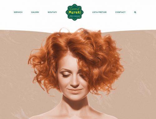 Web Design pentru salon de infrumusetare in Ramnicu Valcea