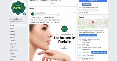 reclama facebook tratamente faciale