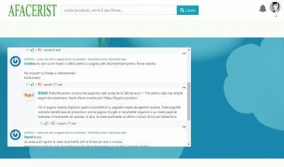 sistem comentarii Afacerist.ro