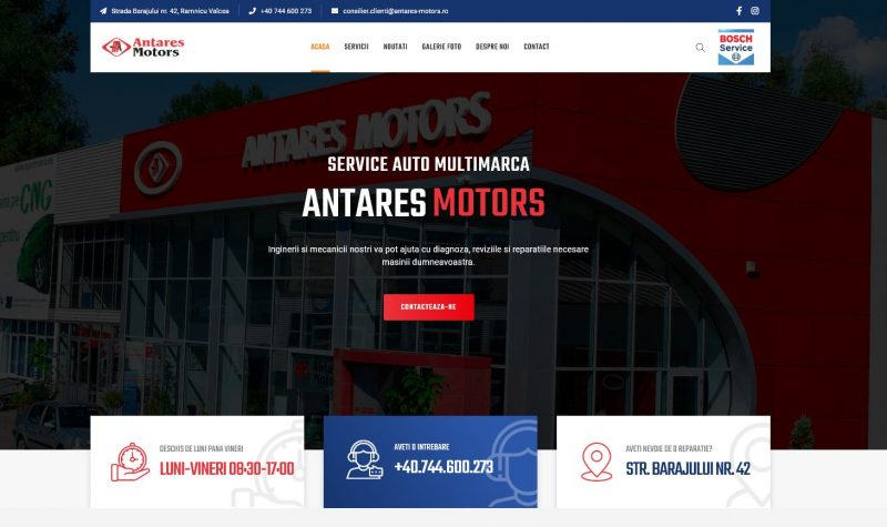 site web antares motors