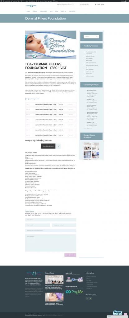 services dermal fillers foundation